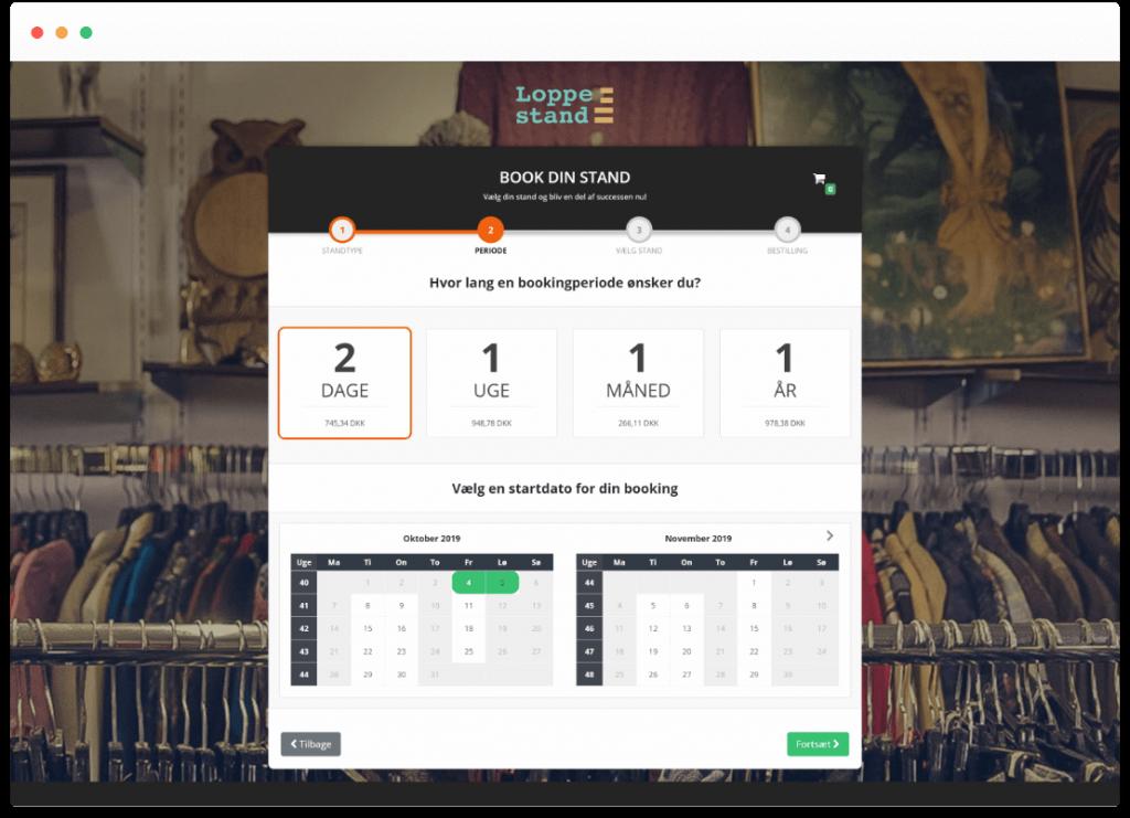 SideWalk_Loppestand_bookingsystem_bookingperiode
